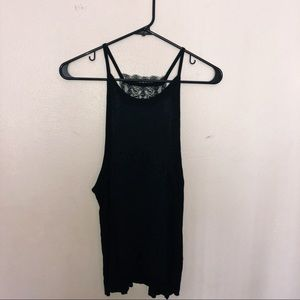 Black camisole with laced back
